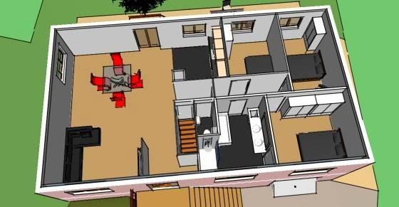 formation sketchup parler en 3d am nagement d 39 une maison avec sketchup. Black Bedroom Furniture Sets. Home Design Ideas