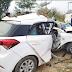 पुल के साथ टकराई कार, दो युवकों की मौत