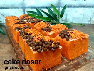 Banyak dari kita mungkin belum tau apa sih sponge Cake, padahal kita kita mungkin sering makan cake ini, tapi kita kita mengetahui kalau kue yang kita makan itu jenis Sponge Cake.  Kue sponge adalah sebuah kue yang berbahan dasar tepung atau teoubg gandum, gula, dan telur kebabyakan, tidak menggunakan Baking Powder, tapi ada sebagian yang membuat  dicampur dengan baking powder yang biasanya dijual, dengan struktur yang dapat mengambang, seperti porifera. Kue sponge dibuat dengan metode adonan encer. Mau bisa membuat jenis kue ini? Ayo belajar bersama kami di Griyafoods.