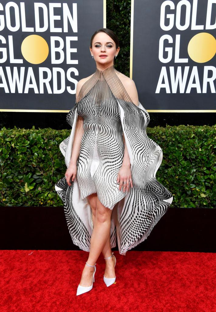 Joey King in Iris van Herpen couture at Golden Globes 2020