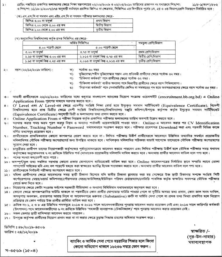 The Security Printing Corporation (Bangladesh) Job Circular 2019