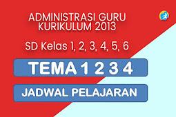 Jadwal Pelajaran K13 Tahun 2019/2020 Kelas 1,2,3,4,5 dan 6