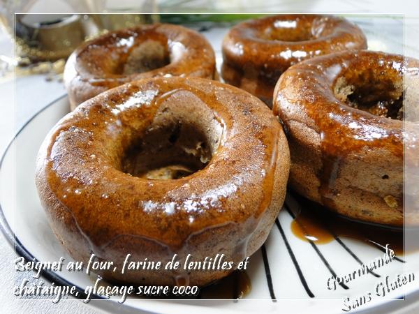 Beignet au four sans gluten farine de lentilles et farine de châtaigne