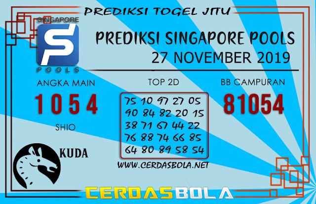 """Prediksi Togel """"SINGAPORE"""" CERDASBOLA 27 NOVEMBER 2019"""