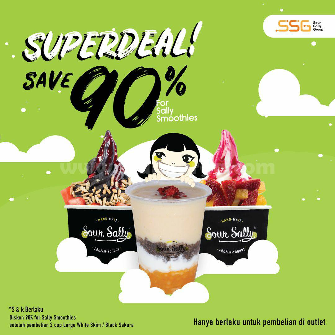 Promo SOUR SALLY Special Superdeal SAVE 90% For Sally Smoothies