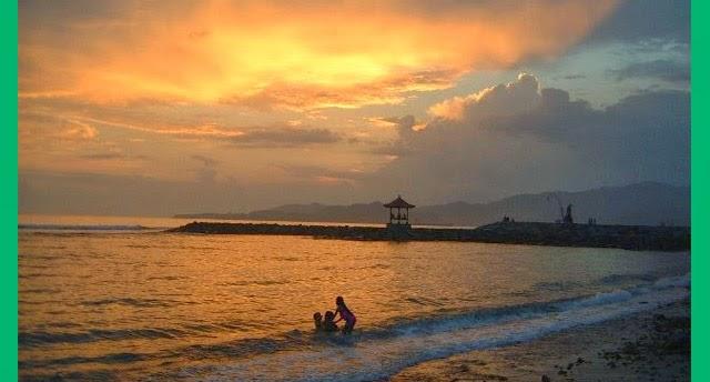 sunset pantai candidasa bali