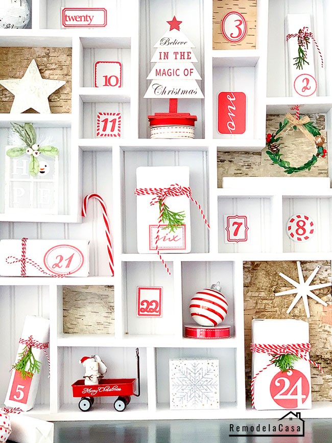 Christmas decor - House advent calendar