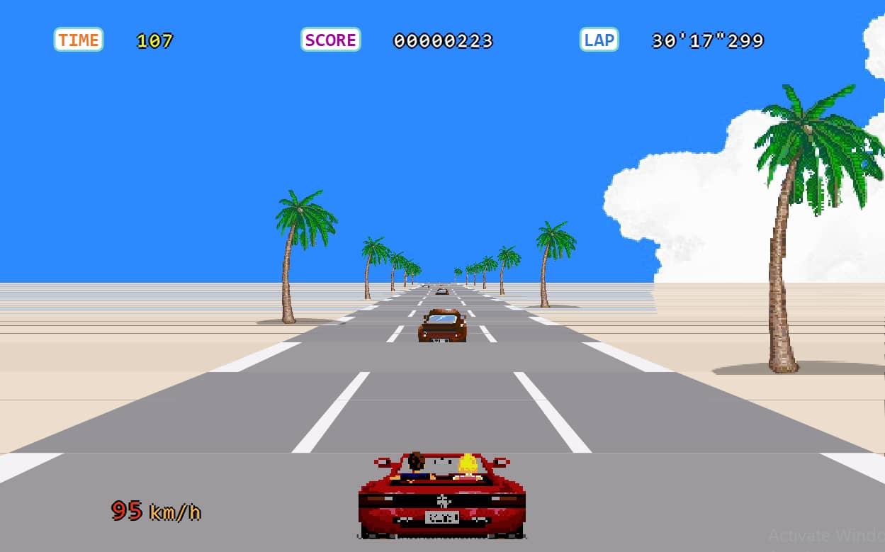 Make a stylish racing car game using HTML, CSS, and JavaScript