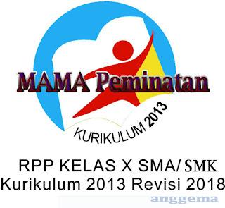 RPP SMA matematika Peminatan Kelas X Kurikulum 2013
