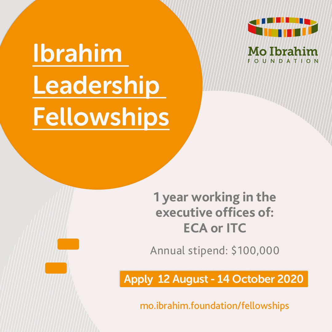 Ibrahim Leadership Fellowships Program 2021 for emerging African Leaders