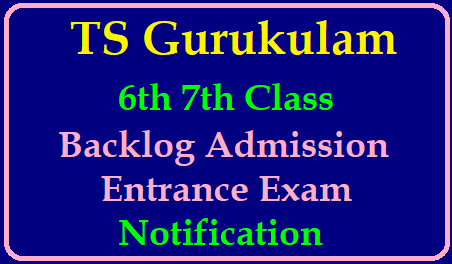 TS Gurukulam 6th 7th class Backlog Admission Entrance Exam Notification Application Form Online @tsrjdc.cgg.gov.in Telangana Gurukula Society Released Entrance Exam Notification to fill up 6th 7th Class Backlog Seats in Telangana Residential Schools TREIS. Admissions Selection will be done on Entrance Exam Merit basis and District will be considered as Unit, TSRJDC Online Application Form Eligibility criteria How to Apply Exam Dates Downloading of Hall Tickets Results Selection list aspirants may keep visit here ts-gurukulam-6th-7th-class-entrance-exam-application-form-apply-online-tsrjdc.cgg.gov.in | Telangana Gurukulam Admission Entrance Exam Notification Eligibility Online Application Form Downloading of Hall Tickets Selection List Telangana Gurukulam Admission Notification 2019 - Details/2019/06/ts-gurukulam-6th-7th-class-entrance-exam-application-form-apply-online-tsrjdc.cgg.gov.in.html