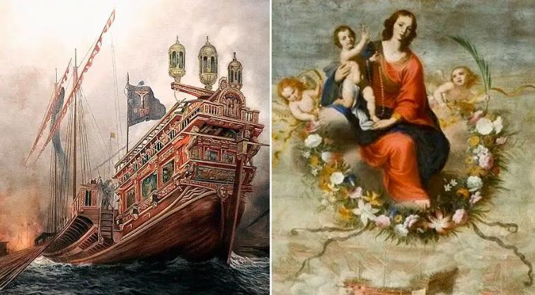 Batalla de Lepanto y Virgen de la Victoria / WIKIPEDIA