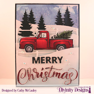 Stamp/Die Duos: Loads of Love, Paper Collection: Rustic Christmas, Custom Dies: Pierced Rectangles, Curvy Slopes, Farm Fence, Trees & Deer, Merry Christmas