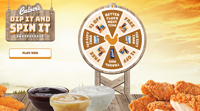 Culvers has a prize wheel they want you to spin to win every day for your chance to win prizes like gift cards and delicious free Culvers menu items!