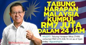 Thumbnail image for Tabung Harapan Malaysia Kumpul RM7 Juta Dalam 24 Jam