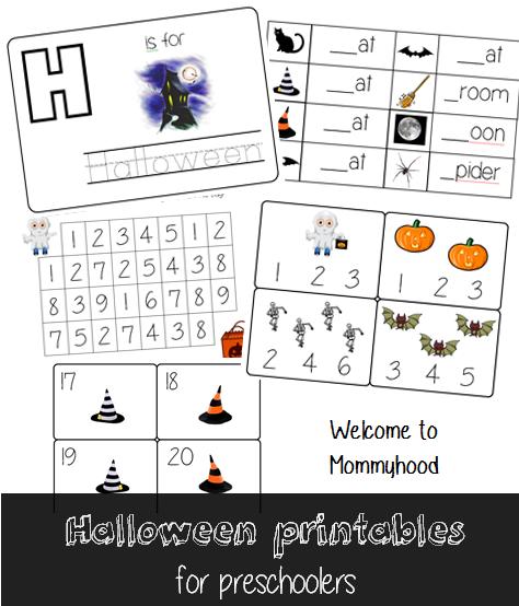 Montessori inspired Halloween Activities for Kids and Free