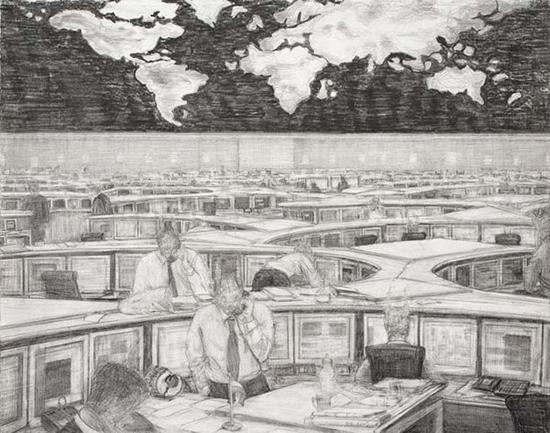 Robbie Cornelissen Inland Empire, 2007  pencil on paper 29 x 36 cm