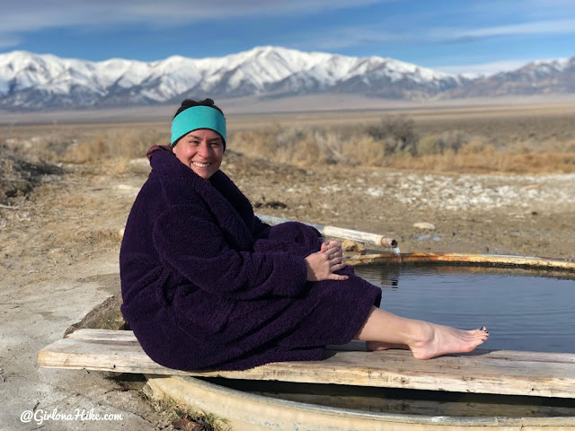 Soaking at Spencer Hot Springs, Nevada