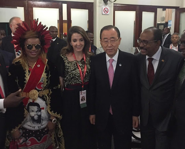 Princess Tessy of Luxembourg and Ban Ki-moon attended the 21st International AIDS conference. (AIDS 2016) in Durban, South Africa