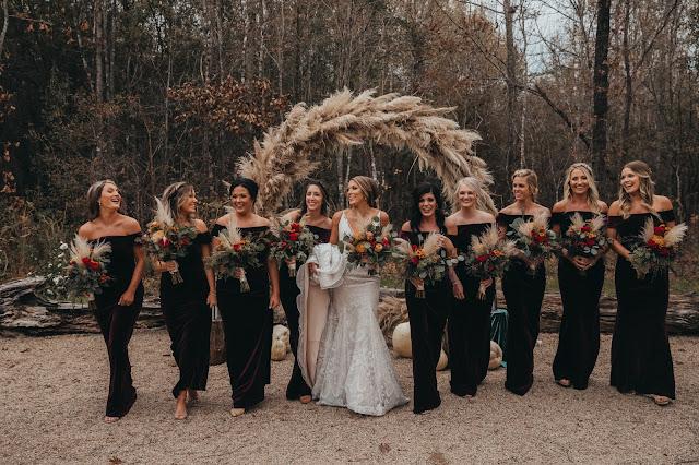Junkin Wedding Bride and Bridesmaids