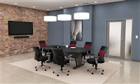 55118 OFM Graphite Finished Modular Conference Table