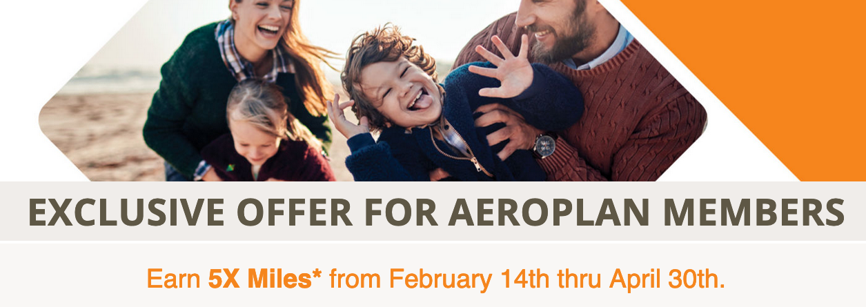 Earn 5x Aeroplan Miles for stays at Choice Hotels Worldwide from February 14 to April 30