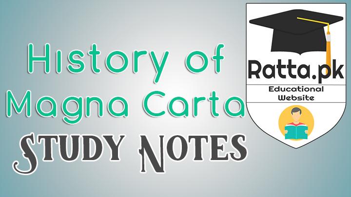 Breif History of Magna Carta - Study Notes