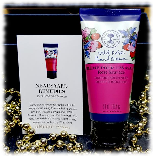 Neal's Yard Remedies Wild Rose Hand Cream tube & card
