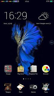 Tema iOS 10 V6 untuk Oppo – Elegan Fish