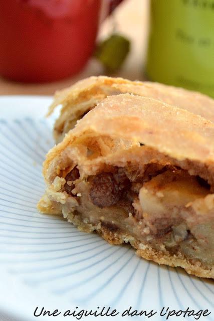 chausson pommes raisins noix amandes beurre cannelle autriche