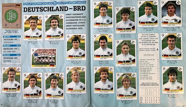 Figurine Germania Italia '90
