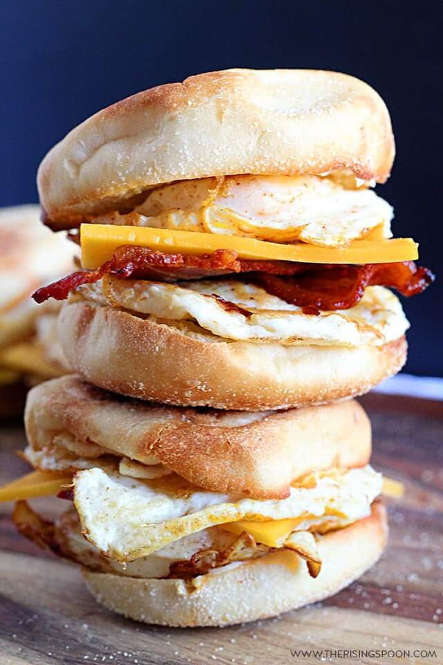 Top 10 Most Popular Recipes On The Rising Spoon in 2019: Make Ahead English Muffin Breakfast Sandwiches