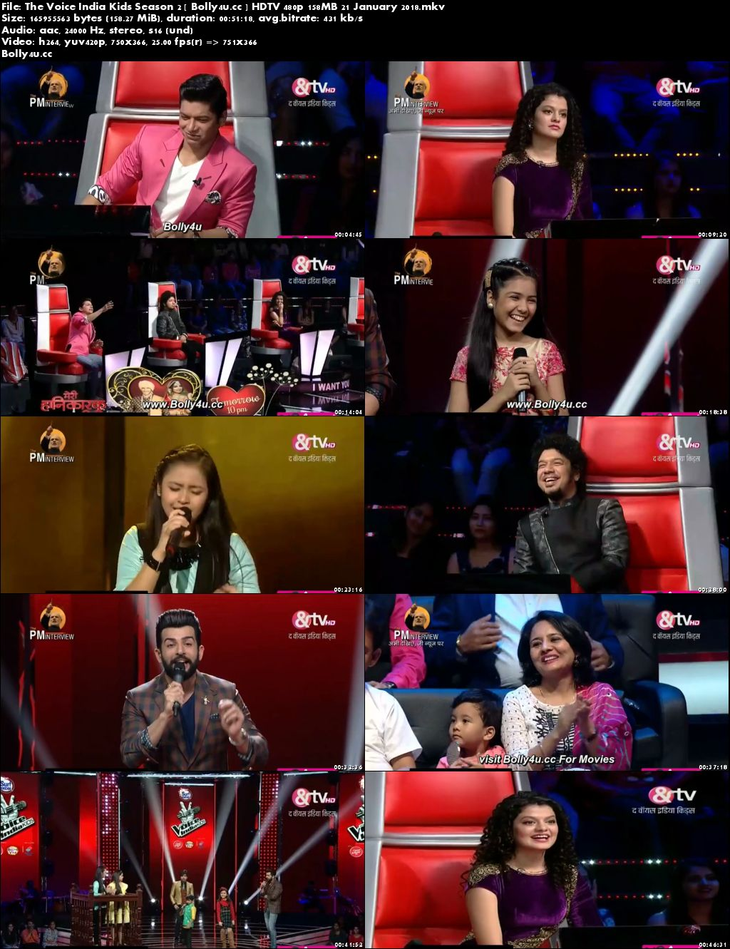 The Voice India Kids Season 2 HDTV 480p 150MB 21 January 2018 Download
