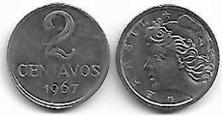 Moeda de 2 centavos, 1967