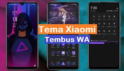 Tema Xiaomi Tembus Wa Violet Blue