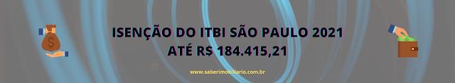 ISENÇÃO ITBI SP 2021