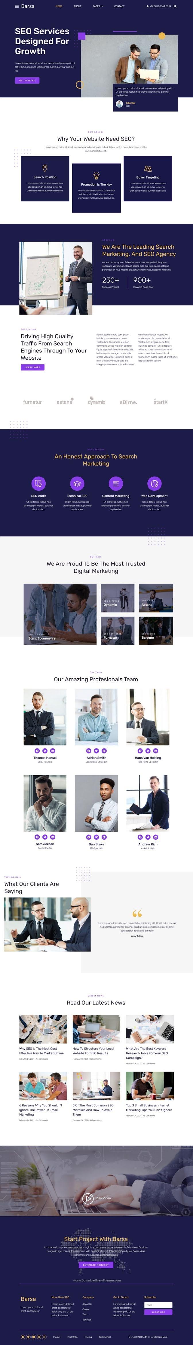 SEO & Digital Marketing Agency Template Kit