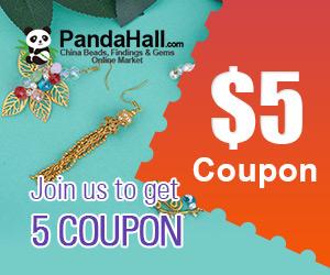 احصل الان على قسيمه بقيمة 5 دولار مجانا مع PandaHall