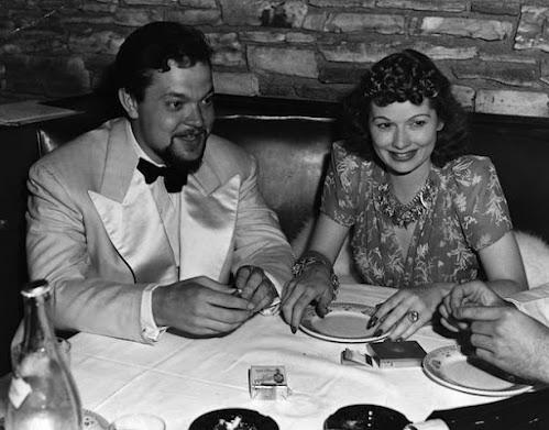 Lucille Ball and Orson Welles in 1940