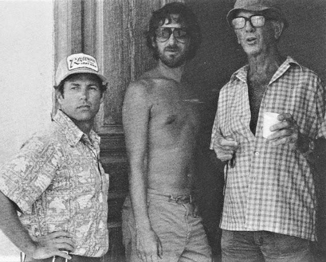 Frank Marshall, Steven Spielberg and Douglas Slocombe