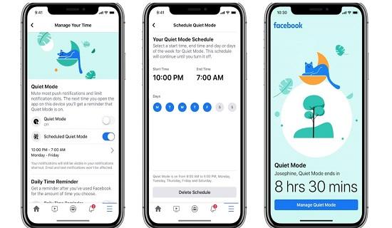 Facebook adds Quiet Mode