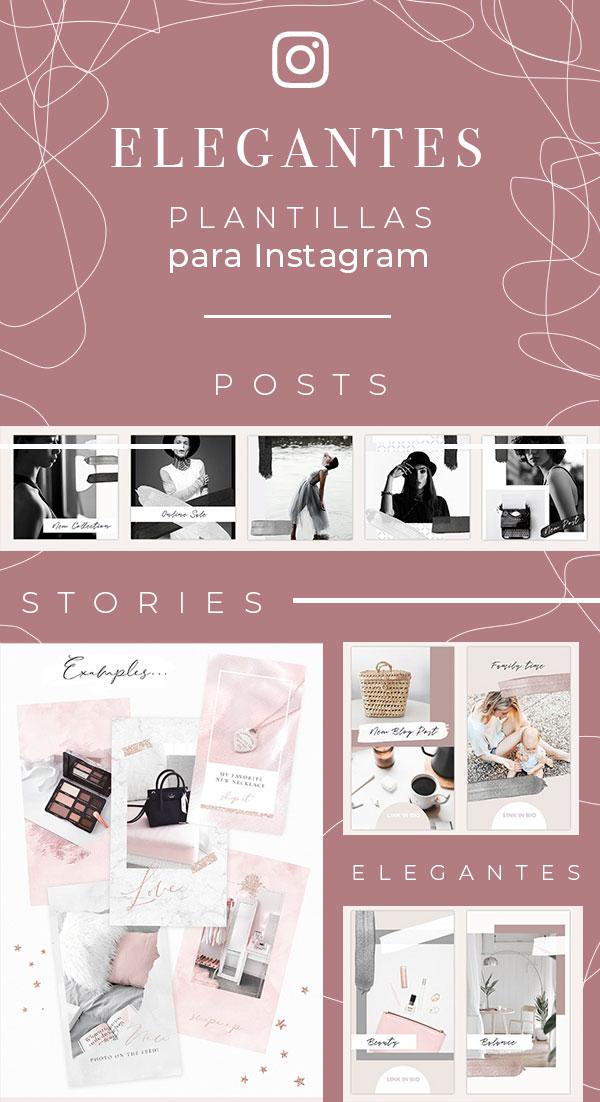 plantillas para stories y posts instagram profesionales bonitas y elegantes