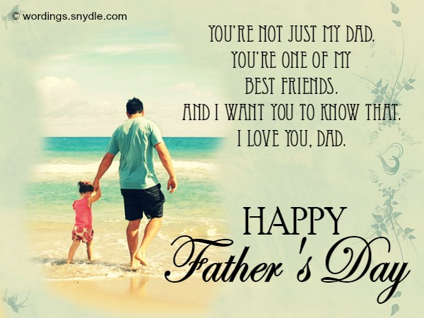 Fathers Day HD Cards From Son & Daughter With Best Quotes Wishes & Message