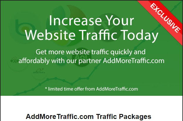 AddMoreTraffic's traffic network generates over 15 million unique visitors and over 50 million page impressions daily!