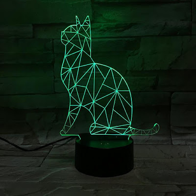 3D Optical Illusion Cat Desk Lamp