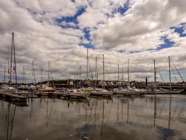 Phot of reflections at Maryport Marina