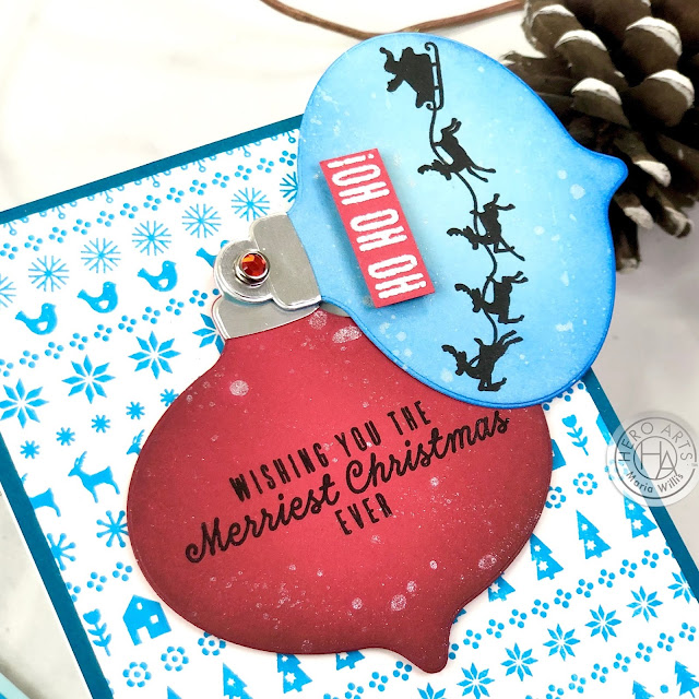 Hero Arts, My Monthly Hero October 2020, cards, stamps, stamping, ink, card making, paper, paper craft, craft, create, handmade, art, diy video, video tutorial, ink blending, Christmas