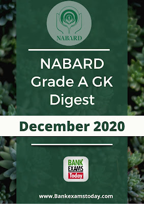 NABARD Grade A GK Digest: December 2020
