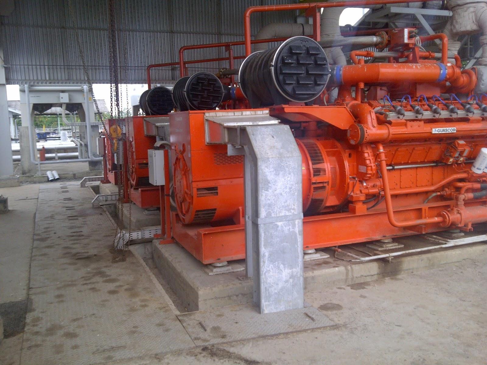 Cara Starting Gas Engine Generator 1MW Guascor