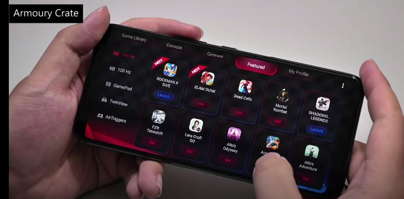Foto Katalog Game yang dikategorikan berdasarkan supporting system dari Asus ROG Phone 3.